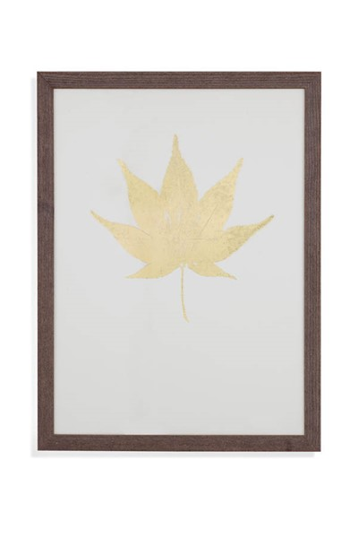 Bassett Mirror Gold Foil Leaf II Wall Art BMC-9901-122BEC