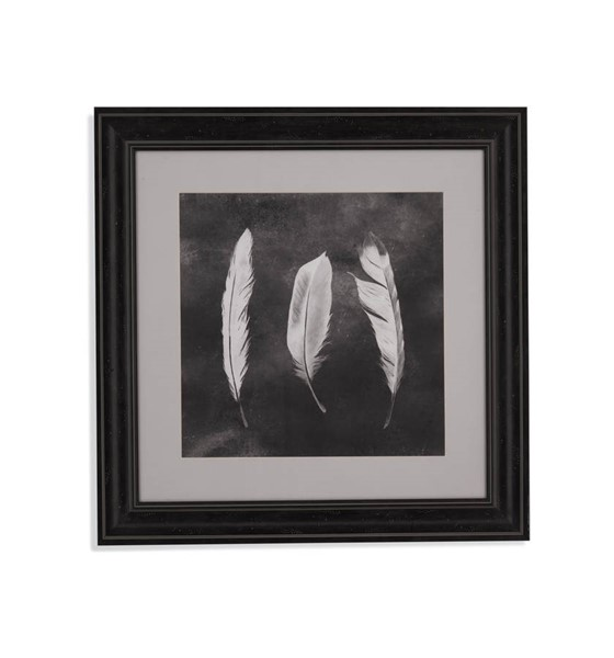 Bassett Mirror White Cyanotype Feathers II Wall Art BMC-9901-184BEC