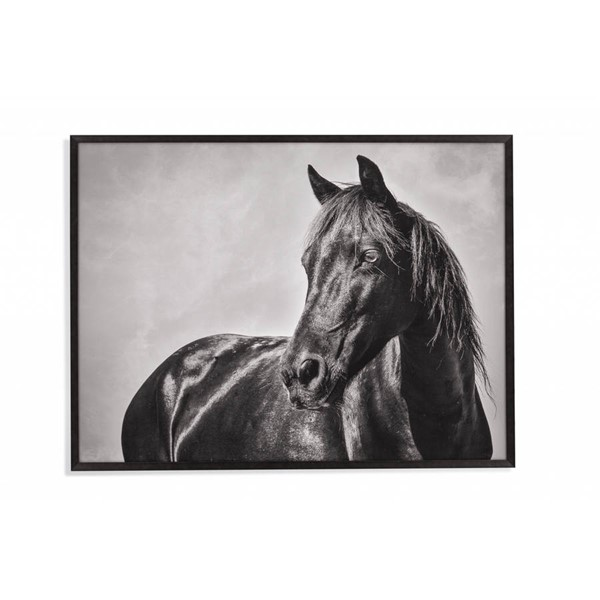 Bassett Mirror Black The Stallion Wall Art BMC-9901-195EC
