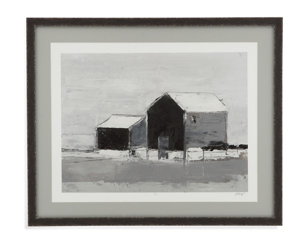 Bassett Mirror Dynamic Barn II Black White Wall Art BMC-9901-400B