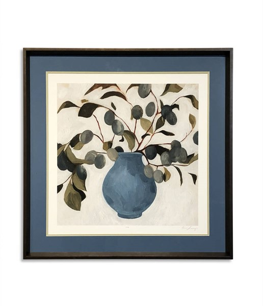 Bassett Mirror Plum Blue Green Branch Assignment I Wall Art BMC-9901-425A