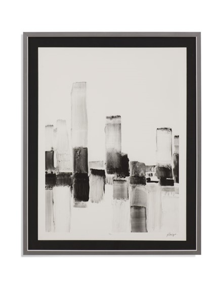 Bassett Mirror Reflected City II Black White Wall Art BMC-9901-564B