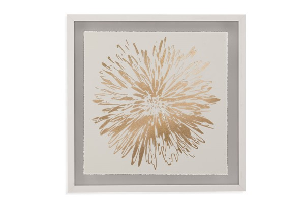 Bassett Mirror Flower Burst I White Frame Wall Art BMC-9901-585A