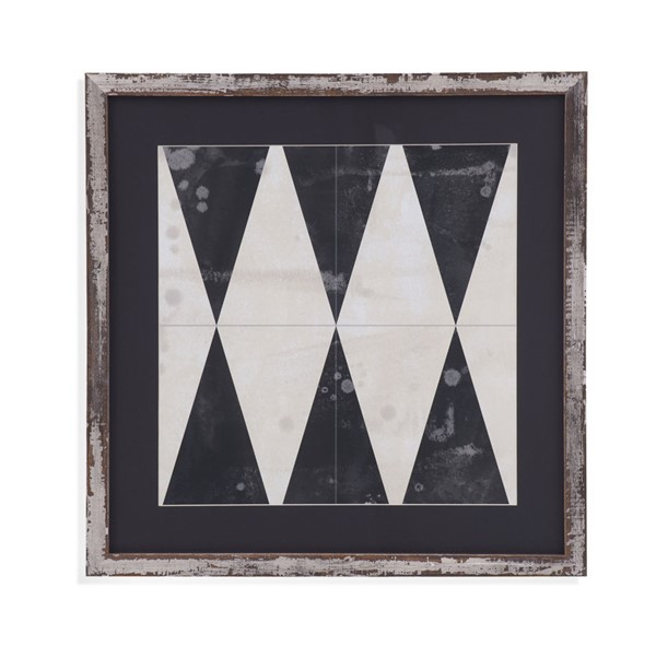 Bassett Mirror Midnight Parquet II Framed Art BMC-9901-652BEC
