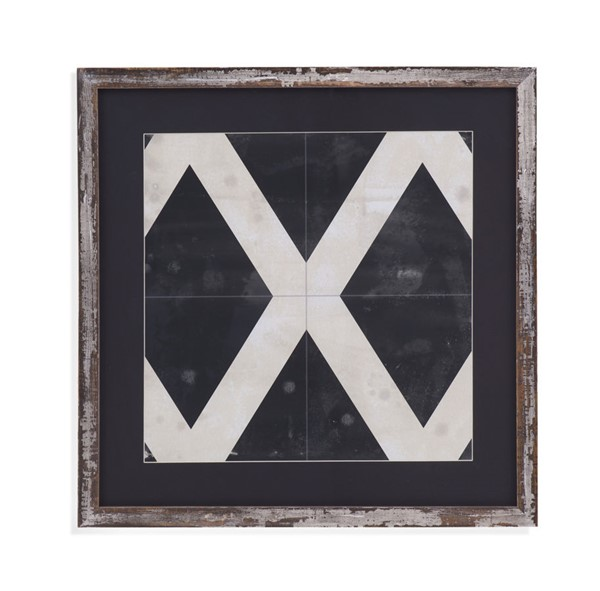 Bassett Mirror Midnight Parquet III Framed Art BMC-9901-652CEC