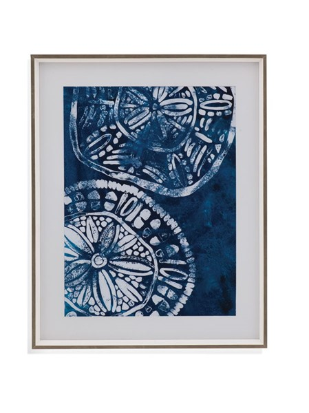 Bassett Mirror Sea Batik IV Framed Art BMC-9901-665BEC