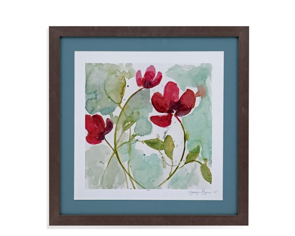 Bassett Mirror Sweetheart Flowers II Framed Art BMC-9901-707BEC