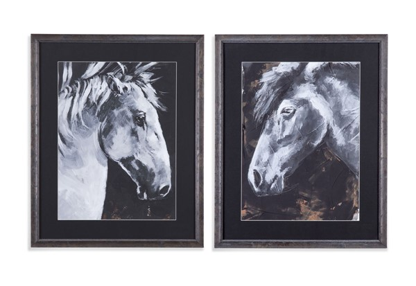 Bassett Mirror Tribecca Horse 2pc Wall Art BMC-9901-770-000