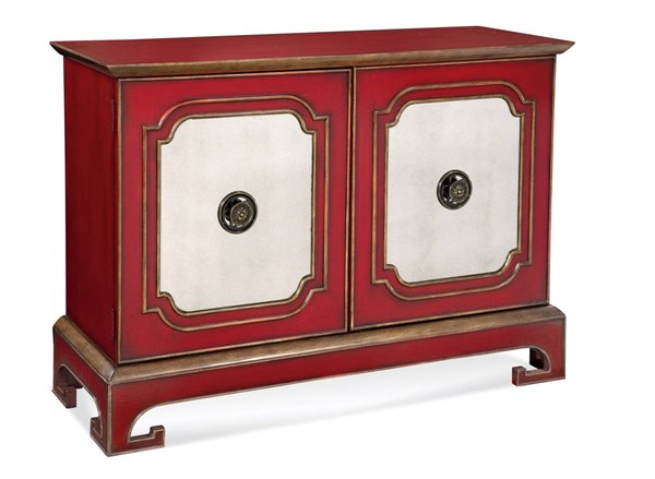 Oneida Chinese Red Hollywood Glam Wood Cabinet BMC-A2257EC