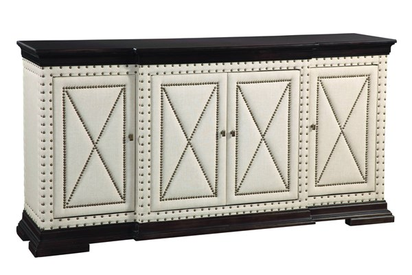Modern Fabric Wood Hampton Buffet (L 74 X W 18 X H 39) BMC-D2619-576EC