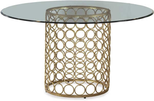Bassett Mirror Carnaby Clear Gold Metal Round Dining Table BMC-D2789-700-095EC