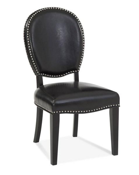 2 Blaine Black Bonded Leather Parson Chairs BMC-DPCH64-794EC