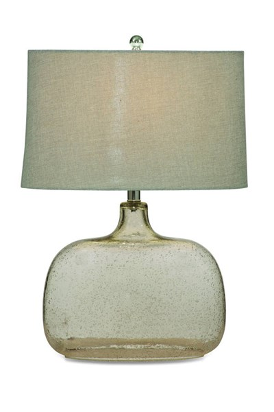 Portman Modern Glass Shade Drum Table Lamp BMC-L2491TEC
