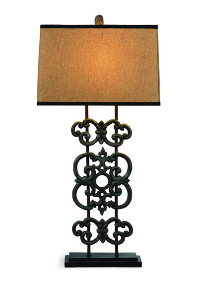 Capistrano Modern Bronze Glass Shade Table Lamp BMC-L2512TEC