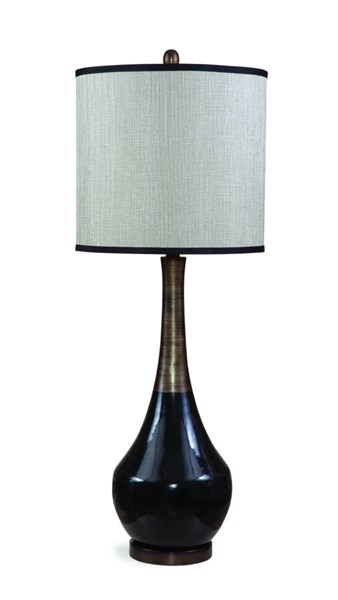 Babson Modern Silver Black Antique Ceramic Table Lamp BMC-L2574TEC