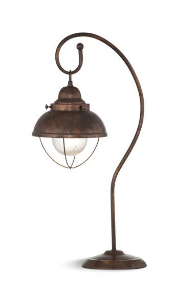 Alleghany Modern Glass Shade Copper Table Lamp BMC-L2675TEC