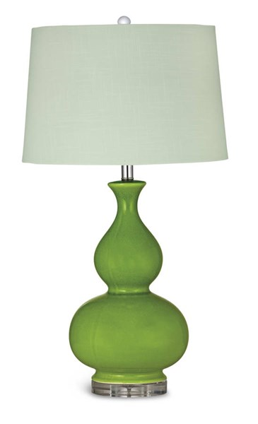 Elsa Old World Green Double Ground Table Lamp BMC-L2725TEC