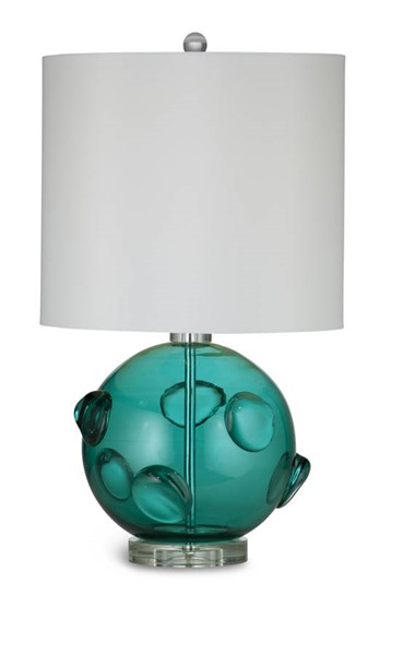 Brooks Green Acrylic Glass Shade Table Lamp BMC-L2734TEC
