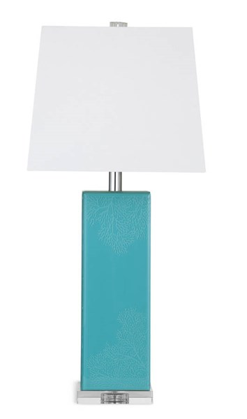 Elisa Turquoise Metal Shade Drum Table Lamp BMC-L2825TEC