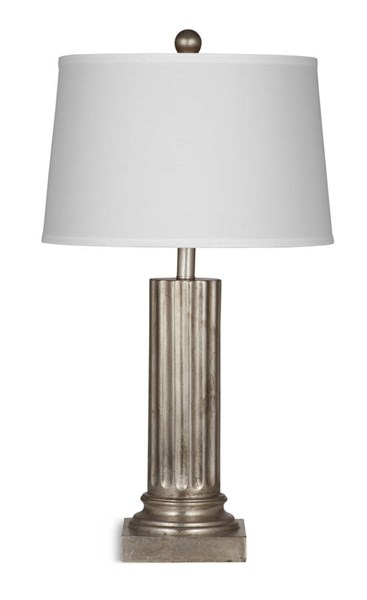 Pierce Silver Leaf Resin Drum Table Lamp BMC-L2830TEC
