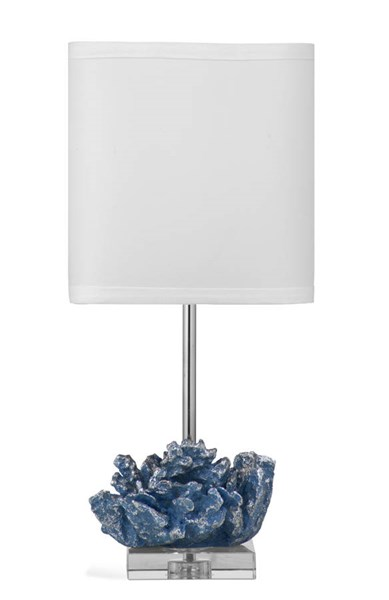 Pacificia Blue Silver Resin Table Lamp W/CFLS Bulb BMC-L2886TEC