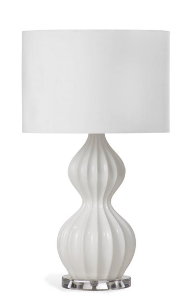 Gifford White Old World Resin Table Lamp BMC-L2891TEC