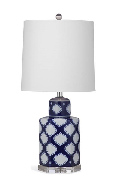 Holton Navy White Old World Porcelain Table Lamp BMC-L2916TEC