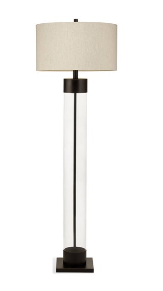 Bassett Mirror Haines Modern Bronze Glass Floor Lamp BMC-L2931FEC