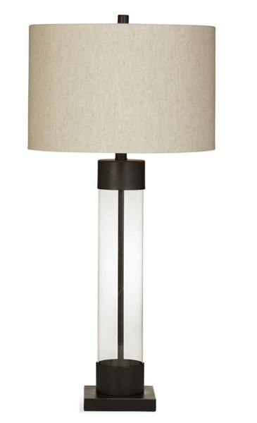 Haines Modern Bronze Glass Table Lamp W/CFLS Bulb BMC-L2934TEC