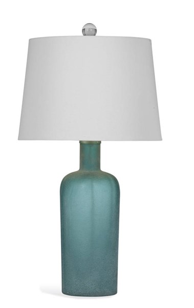 Sumter Blue Glass Table Lamp W/CFLS Bulb BMC-L2937TEC