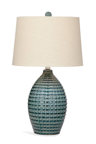 Hurst Aqua Blue Old World Ceramic Table Lamp BMC-L2941TEC
