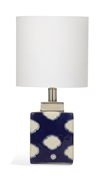 Carmi Navy White Modern Ceramic Table Lamp BMC-L2942TEC