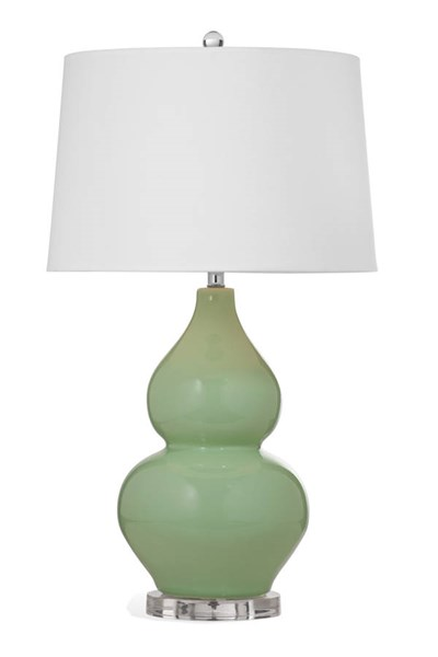 Eagan Chrisp Green Old World Ceramic Table Lamp BMC-L2947TEC