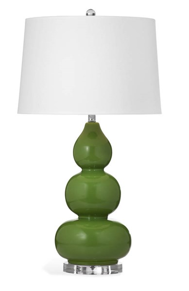 Bassett Mirror Benson Mario Green Old World Ceramic Table Lamp BMC-L2952TEC