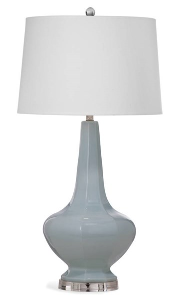 Bassett Mirror Wells Chrisp Blue Old World Ceramic Table Lamp BMC-L2955TEC