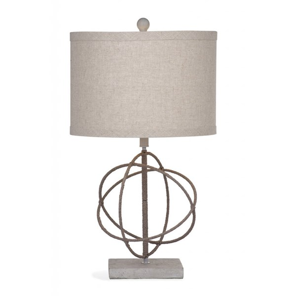 Bassett Mirror Caswell Rope Metal Round Table Lamp BMC-L2973TEC