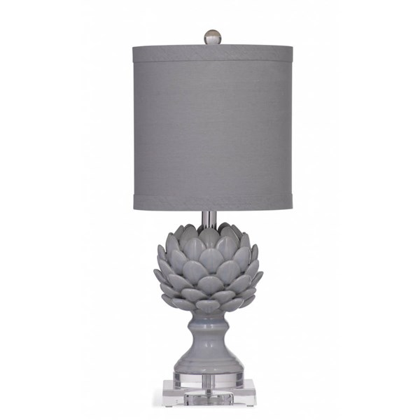 Bassett Mirror Regan Grey Ceramic Table Lamp BMC-L2993TEC