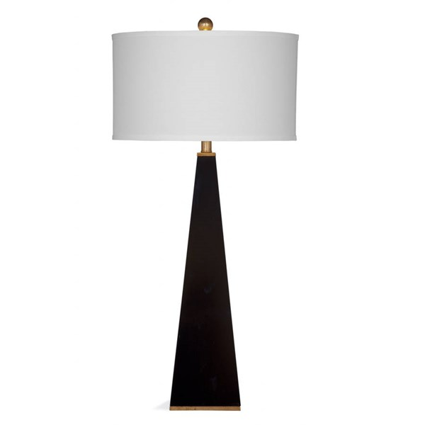 Bassett Mirror Elle Modern Glossy Black Resin Table Lamp BMC-L3026TEC