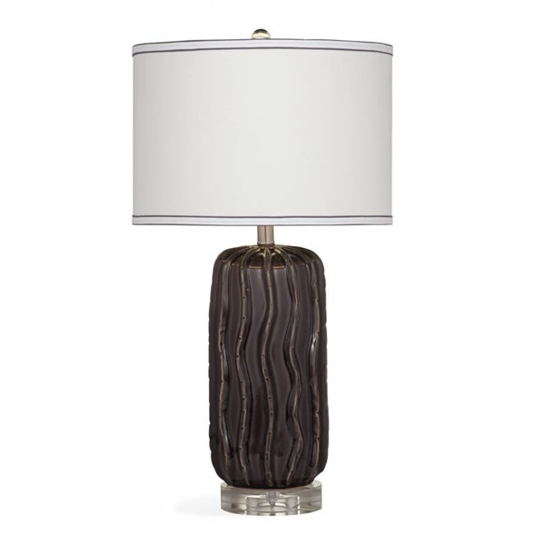 Bassett Mirror Holman Modern Gray Ceramic Table Lamp BMC-L3225TEC