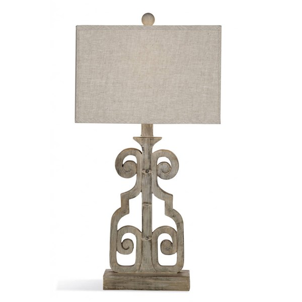 Bassett Mirror Braylin Weathered Grey Resin Table Lamp BMC-L3234TEC