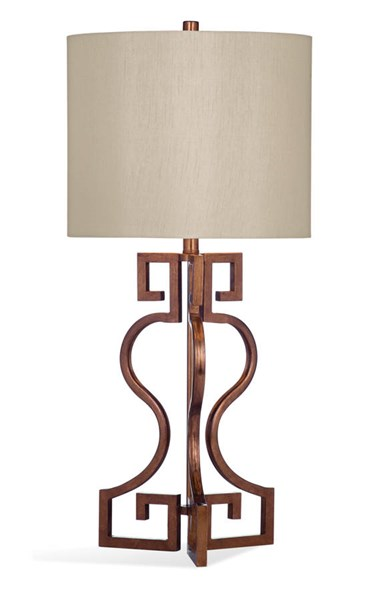Bassett Mirror Taryn Gold Leaf Metal Table Lamp BMC-L3254TEC