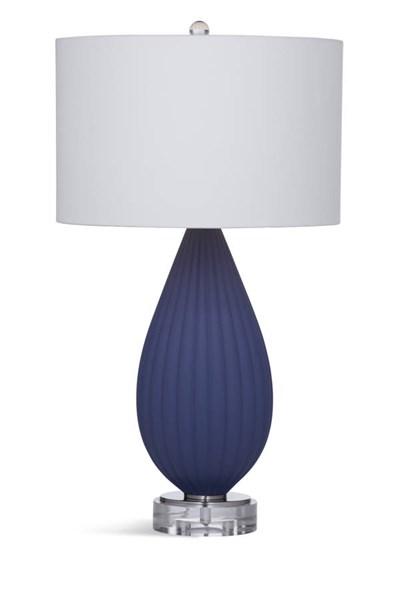 Bassett Mirror Redding Modern Blue Glass Table Lamp BMC-L3288TEC