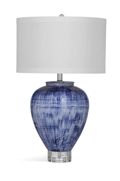 Bassett Mirror Reena Modern Blue Ceramic Table Lamp BMC-L3307TEC
