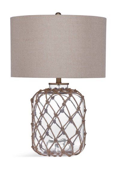 Bassett Mirror Kersey Rope Clear Glass Table Lamp BMC-L3311TEC