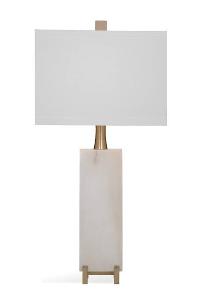 Bassett Mirror Amelie White Stone Table Lamp BMC-L3312TEC