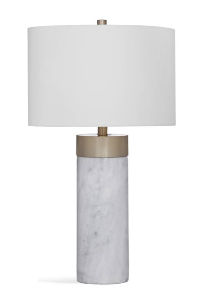 Bassett Mirror Jocelyn Modern White Marble Table Lamp BMC-L3324TEC