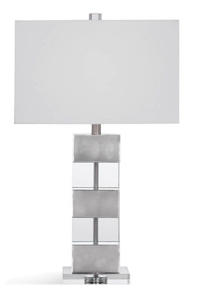Bassett Mirror Elara Modern Silver Crystal Table Lamp BMC-L3328TEC