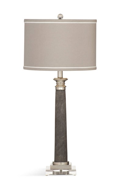 Bassett Mirror Savona Gray Shagreen Resin Table Lamp BMC-L3343TEC