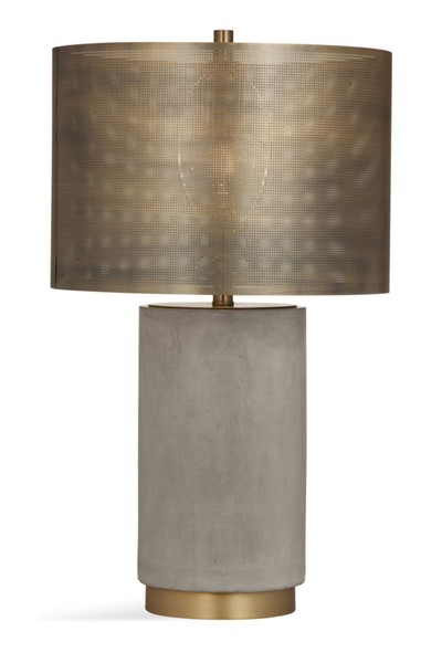 Bassett Mirror Brandon Brass Cement Base Table Lamp BMC-L3638T