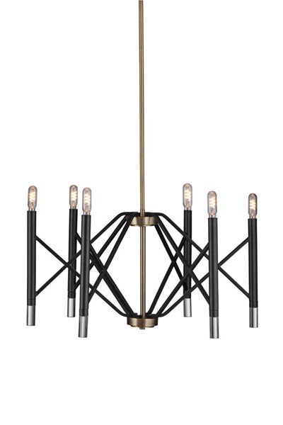 Bassett Mirror Farnsworth Matte Black Chandelier BMC-L3674C